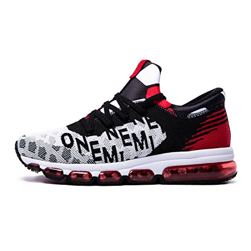 Onemix Men's Mid-Top Air Cushion Knit Walking Trainers Fitness Sports Running Shoes