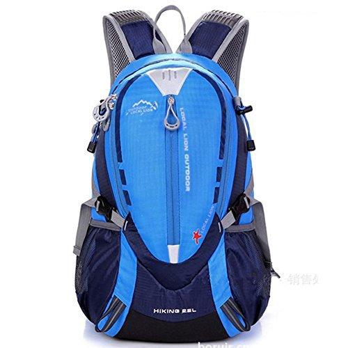 ERWAA 25L Wasserdicht Damen Herren Wanderrucksack Trekkingrucksack Ultraleicht Outdoor Fahrradrucksack Unisex Reiserucksack für Radfahren Wandern Reisen Klettern Bergsteigen Blau