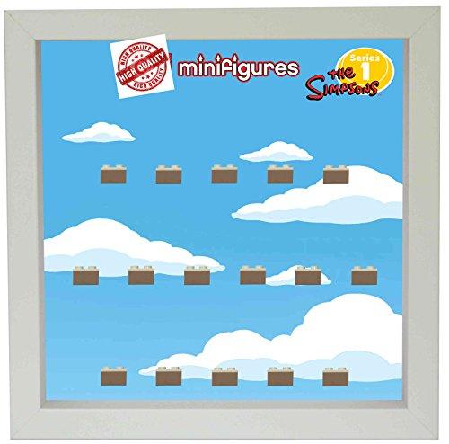 Setzkasten Vitrine Serie Simpsons 1 für 16 LEGO® Minifiguren (Lego Bilderrahmen)