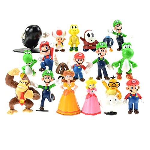 Super Mario Bros Colección de 18 figuras personajes de diferentes PVC