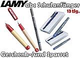 LAMY abc Schulanfänger Füllfederhalter ROT + Drehbleistift [Starter-/Geschenkset] inkl. 2 Päckchen Tintenpatronen = 10Stk. & Tintenkiller B