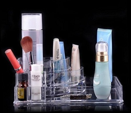 Professional Clear Acrylic Cosmetic Storage Display Lipstick Stand Rack Holder Jewelry Display Makeup Organizer