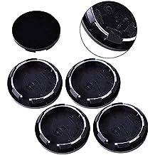 ZHUOTOP - 4 tapacubos universales de 50 mm para llantas de coche, color negro