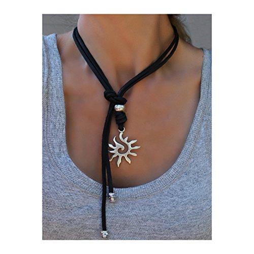 beau-soleil-jewelry-schmuck-damen-lederkette-mit-anhnger-sonne-symbol-halskette-ethno-ibiza-ledersch
