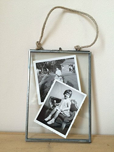 Homes On Trend Antique Silver Metal & Glass Hanging Photo Frame Vintage Style 4