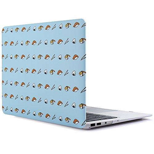 RENPHO MacBook Air 13 Zoll, Hart Case Cover, Ultra Slim Schutzhülle, Snap on Plastik Hartschale [Für MacBook A1369/A1466] - Blau, Sushi (Air-top-case Macbook)