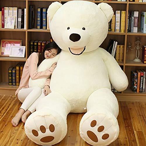 Orsacchiotto Gigante XXL, Teddy Bear Orso Enorme Giocattolo Regalo Regalo Compleanno Natale Bambino Feste (Bianco, 340cm)