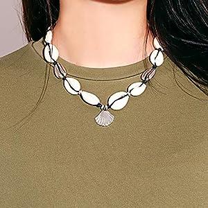 XUHAHAXL Halskette/Personalisierte Einfache Weibliche Handgemachte Shell Halskette Schlüsselbein Kette