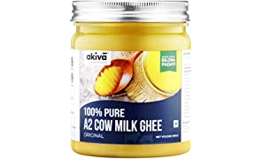 A2 Cow Ghee from Grass-Fed Desi Sahiwal Cow's Milk, 500 ml - 100% Pure - Made from Curd by Traditional Vedic Bilona Padati Method - Non GMO - Gluten Free by Akiva Superfoods