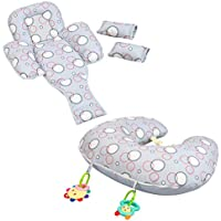 Clevamama Clevacushion 10in1 Nursing Pillow - Maternity and Baby Cushion (Foam, Grey)