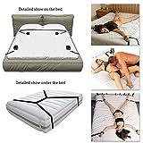 Suomate Bett Fesseln SM Bondage Set BDSM Fesselset Extrem SM Sexspielzeug Kit mit Handschellen Fußfesseln Bondage, Bettfessel Sexspielzeug für Paare Gays, für Einsteiger und Erfahr (Schwarz)