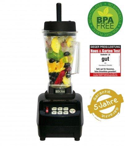 JTC OmniBlend TM800V in Verschiedenen Farben mit 2,0 Liter und 1,5 Liter Tritan Behälter BPA-frei (2 liter, Schwarz ) Test