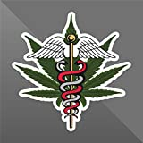 erreinge Sticker Marijuana Foglia Weed Funny - Decal Cars Motorcycles Helmet Wall Camper Bike Adesivo Adhesive Autocollant Pegatina Aufkleber - cm 12