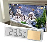 FORNORM Aquarium Thermometer Stick On, Accuracy Digital Fish Tank Temperature Gauge Monitor with 3M Adhesive and Sensor for Fish Tank, Golden