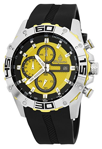 Burgmeister Armbanduhr für Herren mit Analog-Anzeige, Chronograph mit Silikon Armband - Wasserdichte Herrenarmbanduhr mit zeitlosem, schickem Design - klassische Uhr für Männer - BM535-192 Dallas - Dallas Design