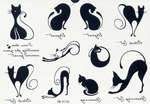Tatouages mignons chats - Tatouage chat noir ...