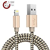 Zeuste Nylon Kabel 3Pack 1.5m iPhone Ladekabel Verbindungskabel Lightning haltbar...