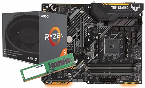 SNOGARD Aufrüstset   AMD RYZEN 5 2600X Prozessor   ASUS TUF B450-PLUS Gaming Mainboard   8GB DDR4 RAM/Desktop Computer Mainboard Bundle/Aufrüst Kit/PC Tuning Set