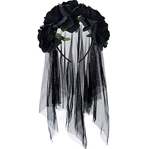 Kostüm Drei Familie Nette Mit - Halloween Schleier Stirnband Tag der Toten Blumenkrone Mexikanisches Schleier Stirnband (Stil 3)