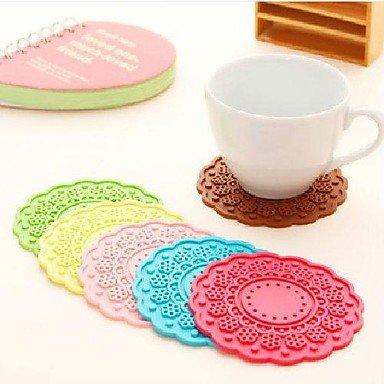 Preisvergleich Produktbild bobo JJJ-K1064 Frische Blumen, Süßigkeiten farbenen dicken Silikondeckel Runde Mehrseitige Heizkissen