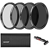 Neewer Kit Filtri a Densità Neutra 52mm ND2 ND4 ND8 ND16 &...
