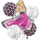 Single Source Party Supplies - 5 Balloon Barbie Glamour Balloon Bouquet Combo by Single Source Party Supplies