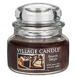 Village Candle 106311311 Brownie Freude Kleine Duftkerze 312 g, Glas, braun, 10.3 x 10.1 x 10.9 cm