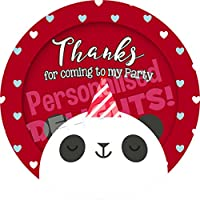 Personalised Delights Panda Bear Sticker Labels (24 Stickers, 4.5cm Each) NON PERSONALISED Seals Ideal for Party Bags, Sweet Cones, Favours, Jars, Presentations Gift Boxes, Bottles, Crafts
