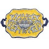 Bandeja con asas de Cerámica de Talavera de la Reina