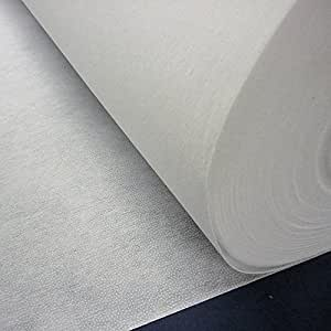 White Heavyweight Fusible Iron On Interfacing Fabric (Per Metre)