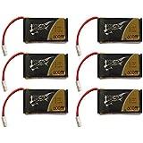 6x Tattu LiPo Batteria 600mAh 3.7V 25C 1S Molex Plug para Syma X5C X5SW X5C-1 X5SC X5SC-1 CX-30W CX-31 M68R Drone Quadcopter