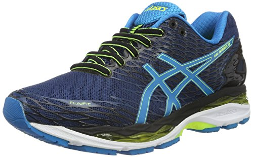 asics-mens-gel-nimbus-18-running-shoes-multicolor-poseidon-blue-jewel-safety-yellow-9-uk