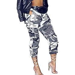 BOLAWOO Mujer Pantalon Militar Elegantes Casual Primavera Otoño Pantalon Pirata Mujer Mode De Marca Cintura Alta Pantalones De Jogging Bandage Impresión Leggins Mujer Deportivos