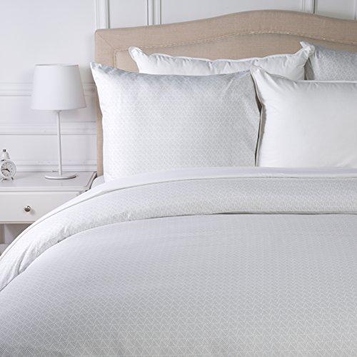 AmazonBasics Parure de lit avec housse de couette en microfibre, Gris quadrillé, 260 x 240 cm