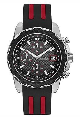 Guess Reloj Cronógrafo para Hombre de Cuarzo con Correa en Silicona W1047G1