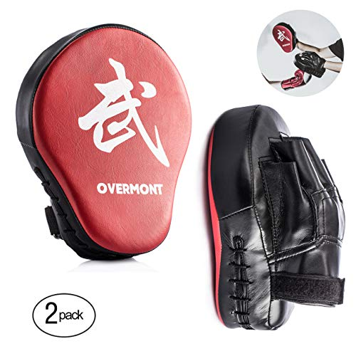guanti da passata Overmont Scudo a Colpi alla Forma di Palma Arc-Shaped Striking Shield in PU per l addestramento Boxing