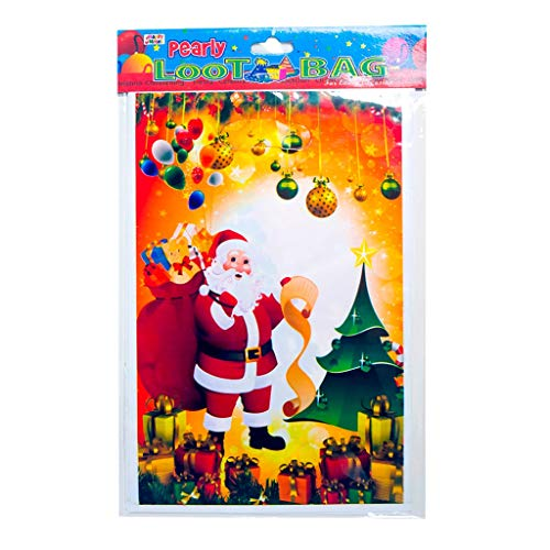 TAOtTAO Weihnachten PVC Einweg-Einkaufstasche SüßIgkeiten GeschenktüTe 10Er Pack