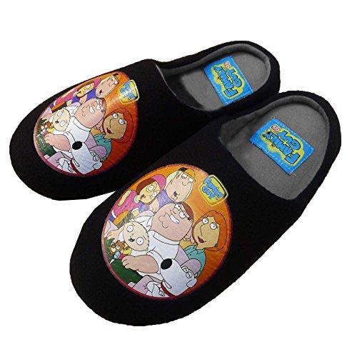 Herren Offiziell Lizenziert Family Guy TV Pantoffeln Schwarz