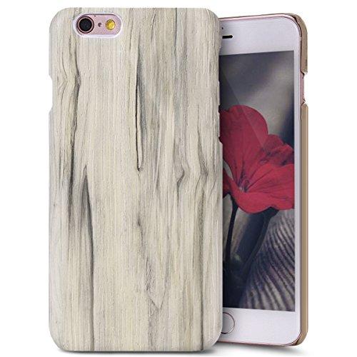 Custodia Cover per iPhone 7, iPhone 7 Case Cover Morbido con Impressionante texture di superficie legno design, Ukayfe Silicone TPU Flessibile Custodia Backcover Case Cover per iPhone 7-Olmo Pioppo