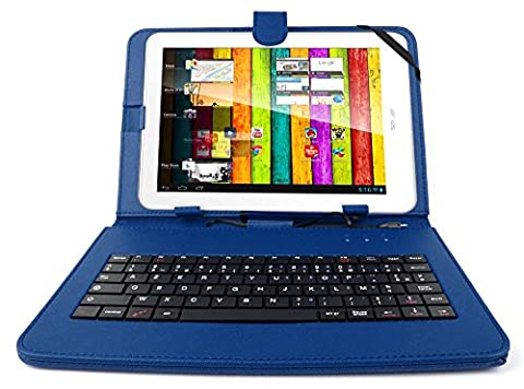 DURAGADGET Etui bleu + clavier intégré AZERTY pour Archos 101