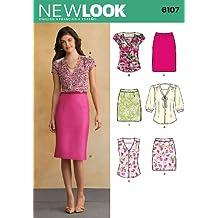 Tamaño 6107 New Look A 8/10/12/14/16/18 para blusas de mujer y faldas por patrones de costura para, Multi-color