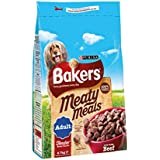 Bakers Complete Dog Food Meaty Meals Tasty Beef, 2.7 kg - Pack of 4