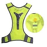 Signalweste Reflektierende Joggingweste/Fahrradweste bietet optimale Dünne Breathable Night Running Fahrrad LED Sicherheit Sicherheit Reflektierende Weste