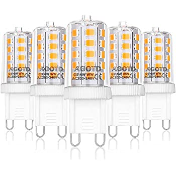 G9 LED Warmweiß 4W,Solocil 6er LED Lampe G9 Birne 4W Ersetz 40W Halogen AC200...