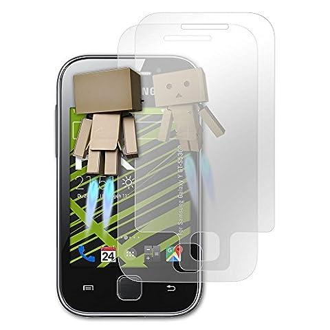 Samsung Galaxy Y (GT-S5360) Spiegelfolie - 1er Set atFoliX FX-Mirror Displayschutz Folie mit Spiegeleffekt