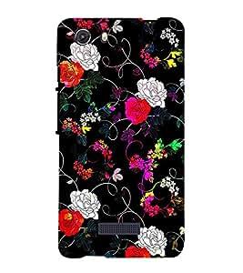 Fiobs amazing beautiful flowers graffiti art floral amazing beautiful Designer Back Case Cover for Micromax Unite 3 Q372 :: Micromax Q372 Unite 3