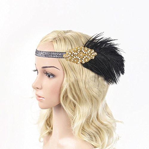 Fornateu Frauen Indian Gefiederte Stirnband-elastische ()