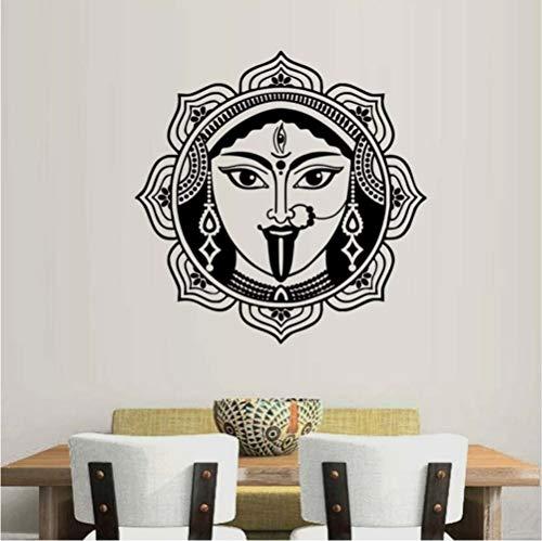 Hjcmhjc Indische Wand Kunst Shiva Wandaufkleber Steuern Dekor Wohnzimmer Hohe Qualität Abnehmbare Vinyl Dekoration Hinduismus Gott Wandtattoos 57 * 57 Cm