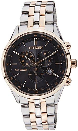 Citizen Eco-Drive Analog Black Dial Men's Watch - AT2144-54E image