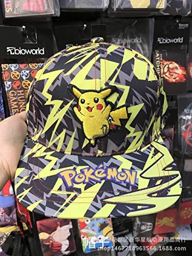 Preisvergleich Produktbild ZZHZKJL Hut Pokémon Pikachu Cosplay Unisex Kappe Anime Baseball Hut Verstellbarer Hut Manga Cosplay Kostümzubehör